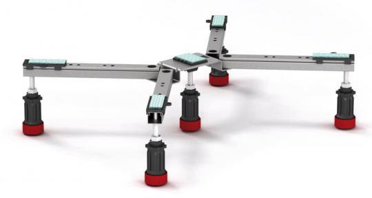 MEPA Duschwannenfuß BW-5 Maxi für Stahl- und Acryl Duschwannen
