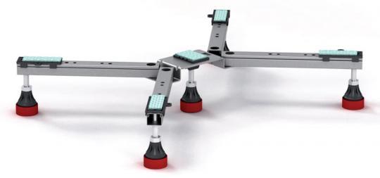 MEPA Duschwannenfuß extra flach BW-5 SF für Stahl- und Acryl Duschwannen