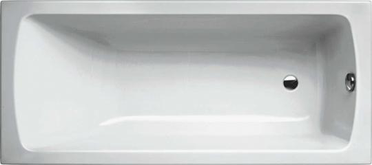 Acryl Körperform Rechteck Badewanne 1700x750x480 mm weiß