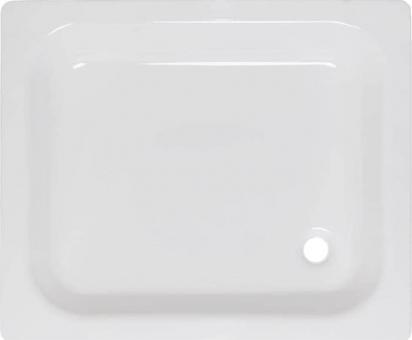 Rechteck Stahl-Duschtasse 90x75x16 cm weiß