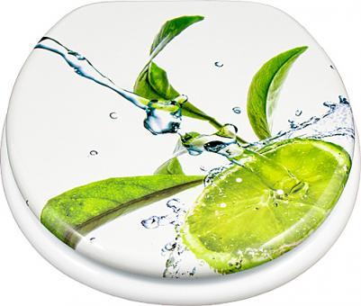 MDF WC-Deckel Limone mit Absenkautomatik