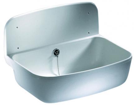 Sanit PVC-Ausgussbecken weiß 500x350 mm