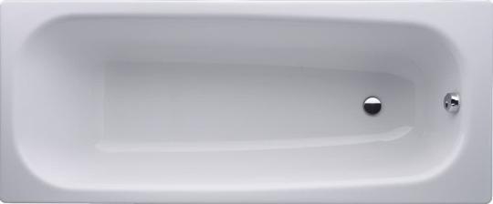 Stahl-Email Körperform Badewanne weiß 1600/1700 x 700 mm