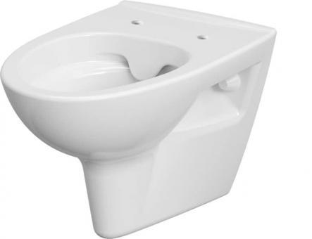 Keramik Tiefspül-WC wandhängend Pure antibakteriell spülrandlos ohne WC-Sitz
