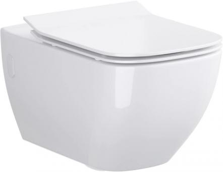 Keramik Wand-Tiefspül-WC Harmony eckig antibakteriell spülrandlos