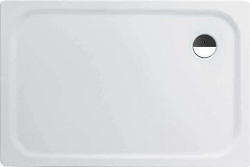 Rechteck Stahl-Duschwanne 120x80x2,5 cm extra flach weiß