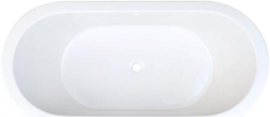 Acryl Oval-Badewanne 1800x800x500 mm weiß