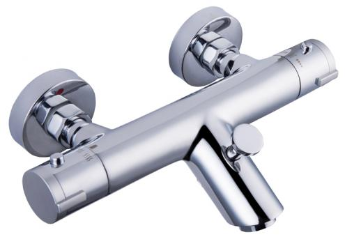 Badewannen Thermostatarmatur mit Wasserspar-Funktion chrom