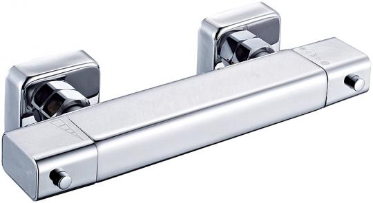 Design Duschthermostat eckig flach chrom