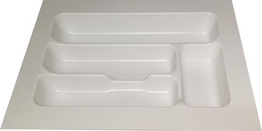 Besteckkasten Schublade universal weiß für 50er Unterschrank