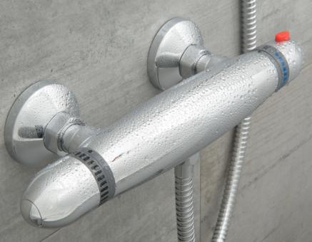 Aufputz Duschthermostat chromoptik