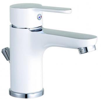Einhebel-Waschtischarmatur bi-color chrom/weiß