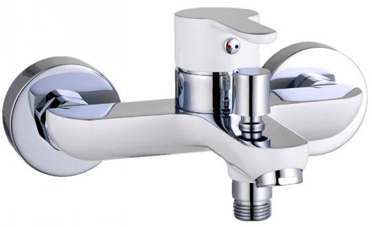 Einhebel-Badewannenarmatur bi-color chrom/weiß