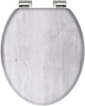 MDF Holzkern WC-Sitz Holz hell furniert mit Absenkautomatik