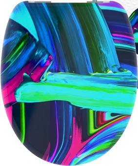 Duroplast WC-Sitz Neon Paint mit Absenkautomatik