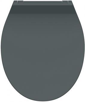 Duroplast WC-Sitz Slim anthrazit mit Absenkautomatik + Schnellverschluss