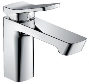 Design Einhebel-Waschtischmischer eckig chrom glänzend