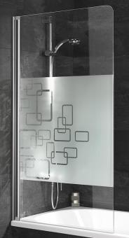 Schulte D1650 Duschwand 1-teilig 1400x800 mm in 9 Glasarten