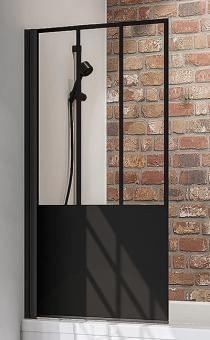 Schulte Duschwand Black Style 1-teilig 1400x800 mm Dekor Atelier 5