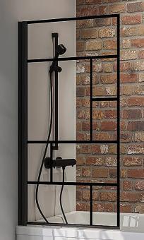 Schulte Wannenaufsatz Black Style 1-teilig 1400x800 mm Dekor Atelier 1