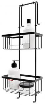 Schulte Edelstahl-Duschablage Black Style zum Hängen 2 Etagen