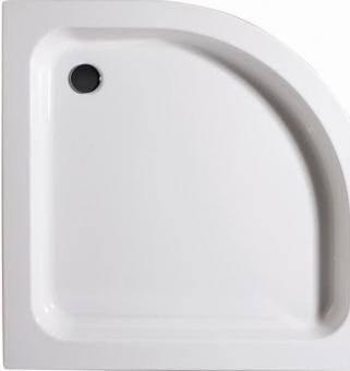 Schulte Acryl Rund Duschtasse flach Radius 550 mm alpinweiß