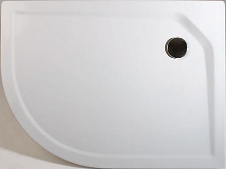 Schulte Acryl Rund Duschwanne extra flach asymmetrisch rechts