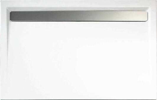 Schulte Acryl Rechteck-Duschbecken alpinweiß mit Rinne 110 mm