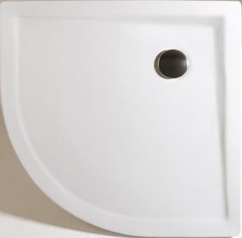 Schulte Rund-Duschbecken Mineralguss extra flach alpinweiß