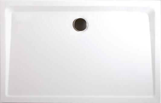 Schulte Rechteck-Duschbecken Mineralguss extra flach alpinweiß