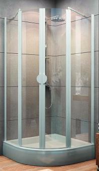 Schulte Sunny Viertelkreis Duschkabine 4-teilig mit Drehtüren