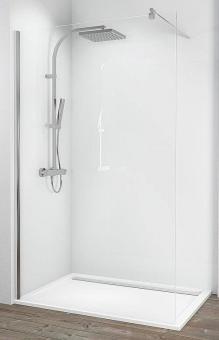 Schulte Alexa Style 2.0 Walk-In Dusche 6 mm Glas mit Stabilisationsbügel