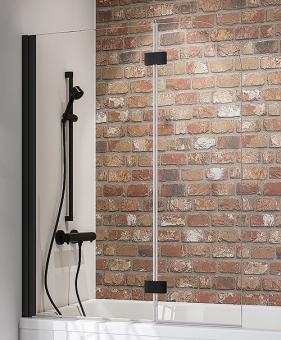 Schulte Badewannenfaltwand Black Style 2-teilig 1400x1120 mm