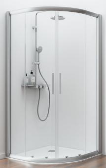 Schulte Kristall/Trend Viertelkreis Dusche 4-teilig Radius 500