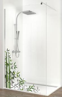 Schulte Alexa Style 2.0 Walk-In Duschwand Echtglas Bambus 6 mm