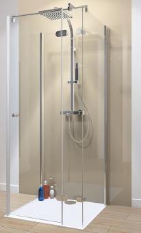 Schulte U-Duschkabine MasterClass Drehtür mit 2 Seitenwänden