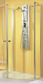 Schulte Garant Duschkabine halbrund an Wand Echtglas Klar