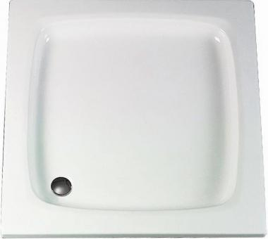Schulte Acryl Quadrat Duschtasse flach alpinweiß