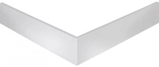 Schürze für Schulte Acryl Quadrat Duschbecken flach alpinweiß