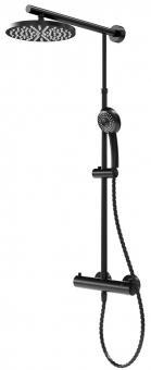 Schulte DuschMaster Rain D9640 rund Black Style mit Thermostat