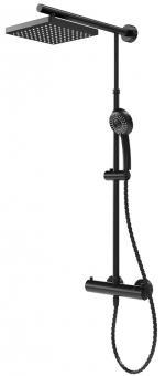 Schulte DuschMaster Rain D9641 eckig Black Style mit Thermostat