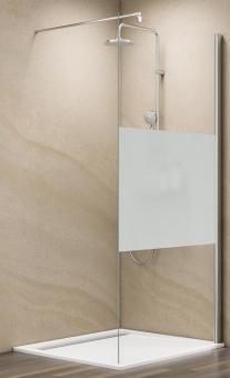 Schulte MasterClass Walk-In Dusche M6 Echtglas Dezent mit Glassiegel