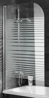 Schulte D1650 Duschwand 1400x800 Echtglas Querstreifen Profil weiß