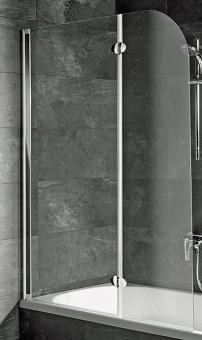 Schulte D3353 Badewannenaufsatz Echtglas Klar Profilfarbe alunatur