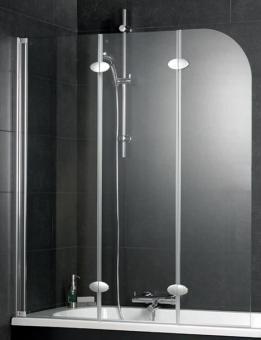Schulte D3354 Badewannenaufsatz 3-teilig Echtglas Klar
