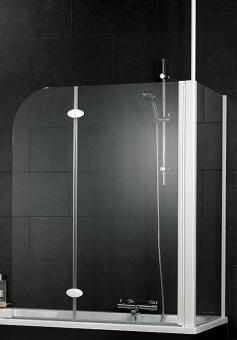 Schulte D3380 Badewannenaufsatz 2-tlg. mit Seitenwand 680-700 mm