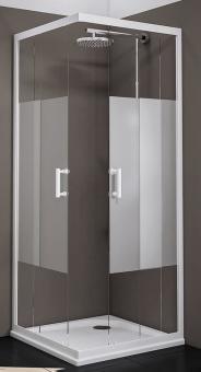 Schulte Duschkabine Sunny Eckeinstieg mit Schiebetüren Glas Dezent