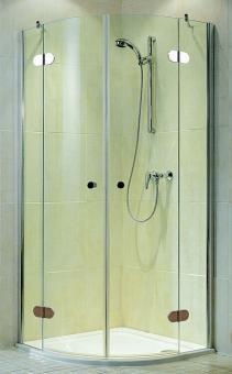 Schulte Duschkabine MasterClass Runddusche Klarglas mit Glassiegel