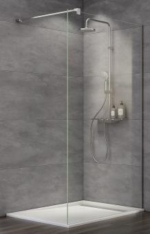 Schulte MasterClass Walk-In Duschwand M10 Klarglas mit Glassiegel