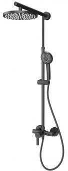 Schulte DuschMaster Rain D9620 Black Style mit Einhebelmischer